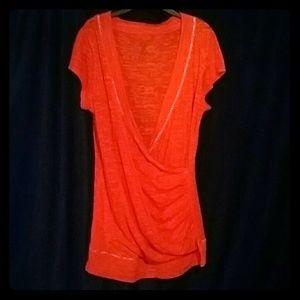 Vanity Bright Orange Crossover Top XL
